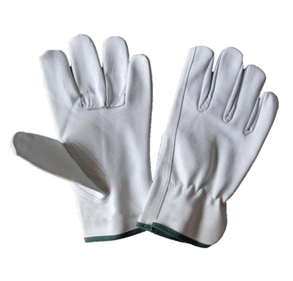 Leather work gloves china - 10 5 White Cowhide Leather Driving Glove