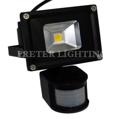 20 Watt Black Aluminum Alloy Outdoor LED Motion Sensor Flood Light