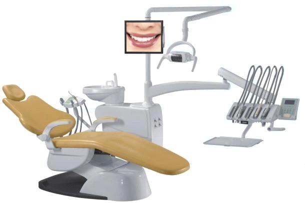 Dental Chair Wih Aluminum Base For Backrest And Strong
