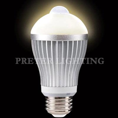 light hotels aluminum alloy infrared led motion sensor light bulb. Black Bedroom Furniture Sets. Home Design Ideas