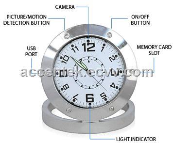 520 Mini Table Desk Clock Spy Hidden Video Camera Recorder