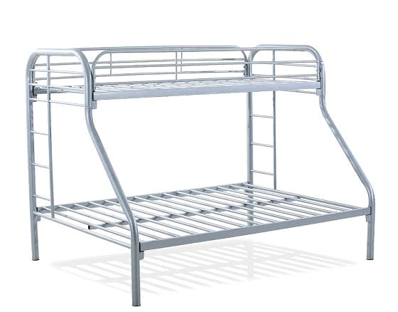 Triple Bunk Bed Single Bed On The Top And Double Bed At