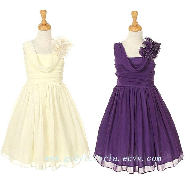 Chiffon flower girl dresses ( 3011) (#3011) - China Chiffon purple ...