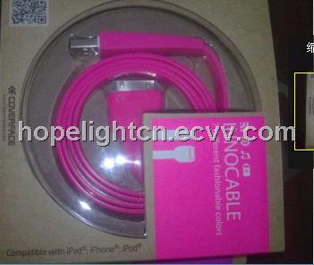 Colorful USB iPhone Flat Cable