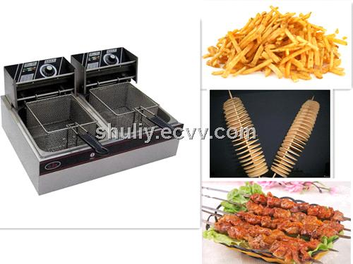 counter electric fryer top