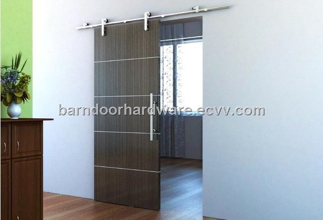 Free Shipping European Modern Stainless Barn Style Sliding Wood Door