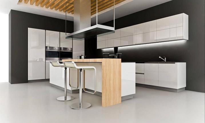 Modern white thermofoil kitchen cabinet moosa purchasing for New style kitchen cabinets