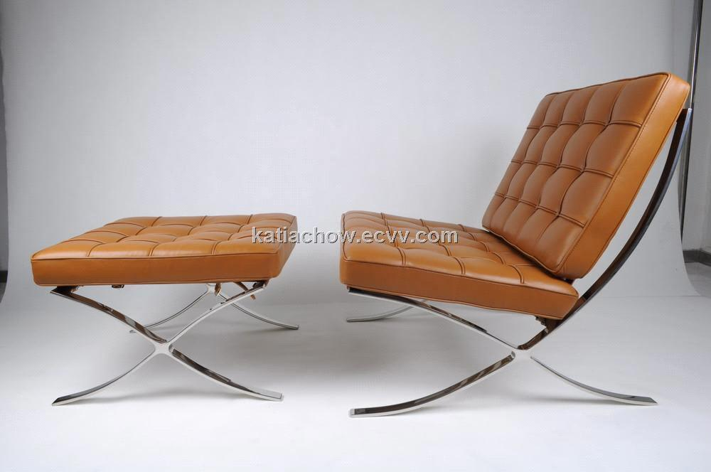 Exceptionnel Barcelona Chair And Ottoman
