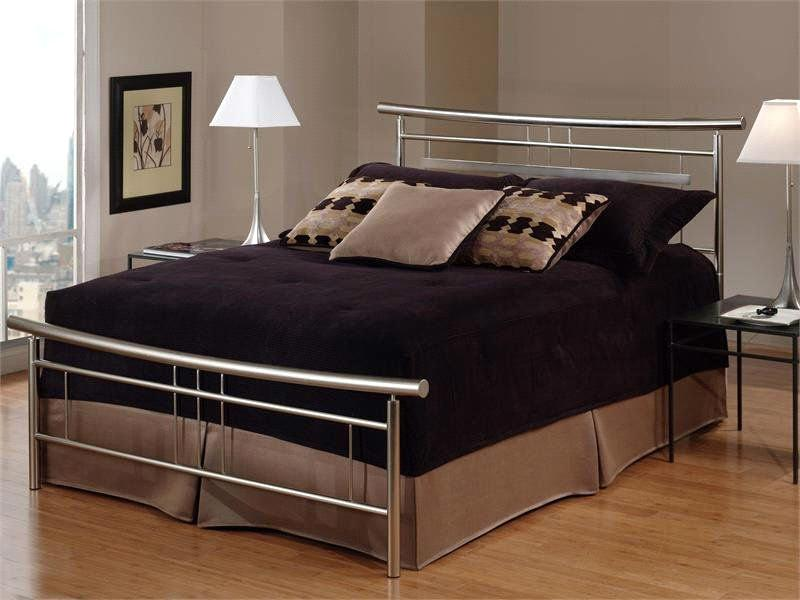 Concise and elegant bedroom furniture metal bed frame ml for Metal bedroom furniture