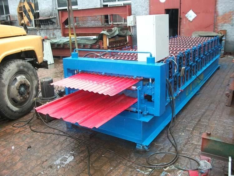 Double Layer Tile Making Machine Roofing And Wall Panel