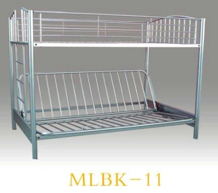 Sliver Metal Twin Over Sofa Bunk Bed Conitemporary Iron Frame Dorm Mlbk 11