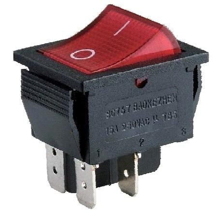 Dpdt Rocker Switch Products Red Lighted 16a Purchasing