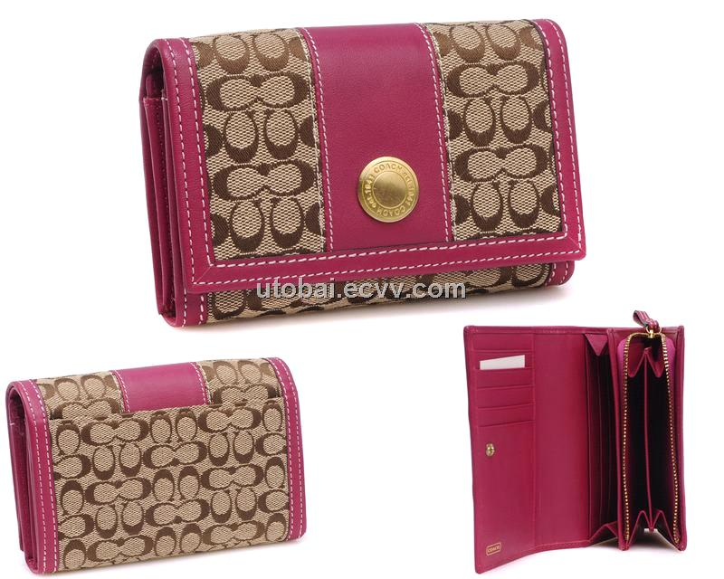 Coach wallets for women green