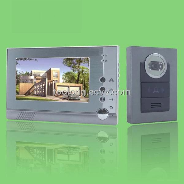 Free Shipping Recordable 7inch Video Door Phone System1