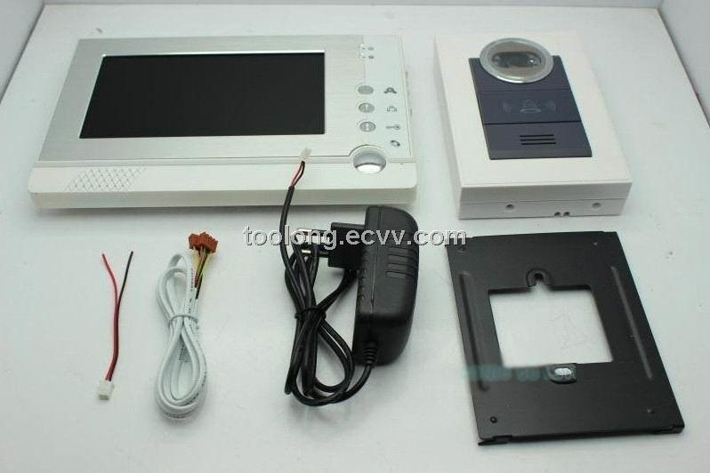 Free Shipping Recordable 7inch Video Door Phone System4