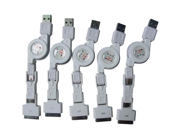 Iphone 4S/4G/3GS/Ipad data cable Mirco USB/Mini USB Iphone5 data cable1