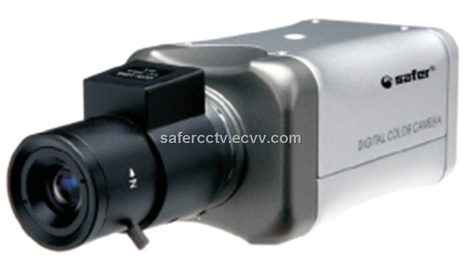Sony 1/4'' CCD CCTV Box Camera AGC, AWB, BLC, EE/AI, DC/VIDEO IRIS LENS Set by DIP Switches.