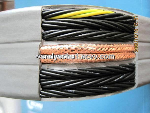 Flat Cable Shield : Shield pvc flat festoon cable purchasing souring agent