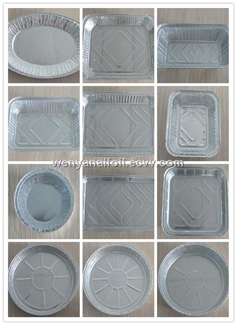 Household aluminum foil container for food packing