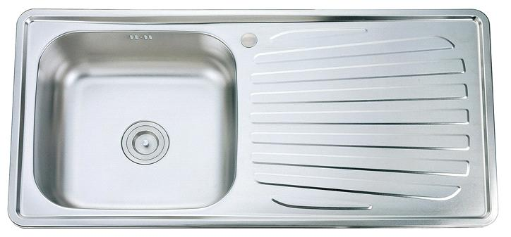 ... Topmount Single Bowl with Drainboard Stainless Steel Kitchen Sink