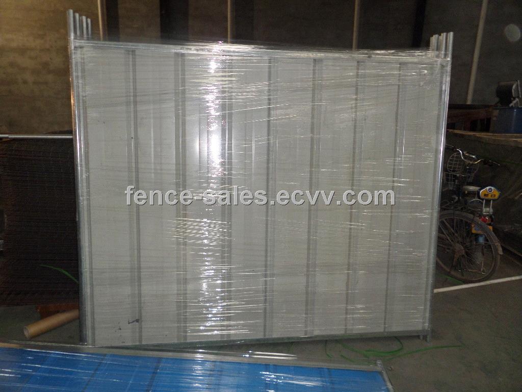 Temporary Fence Enclosures : Temporary colorbond fencing enclosure wall