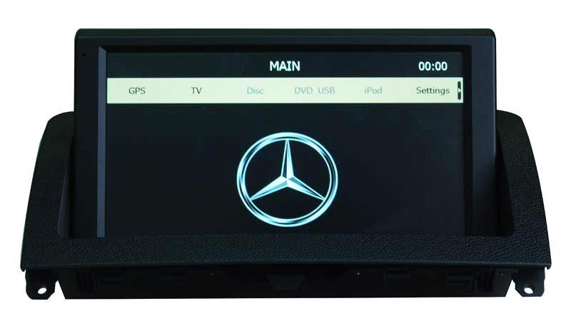1 din car dvd player for mercedes benz c w204 nav with gps for Mercedes benz car radio repair
