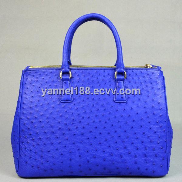 Genuine Ostrich Skin Lady Tote Bag Leather Handbags Yo019