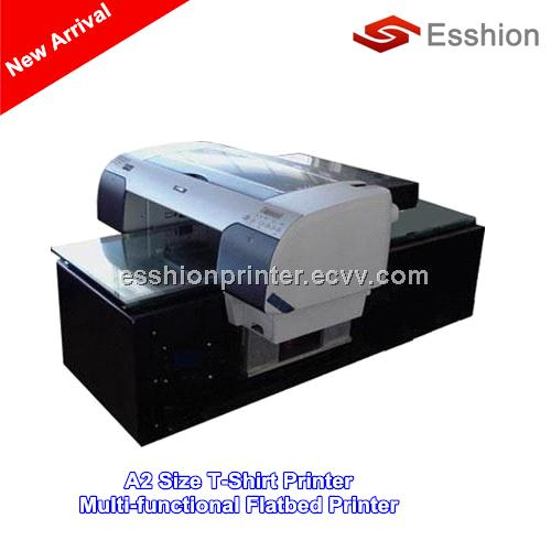 8 colors a2 size direct to garment t shirt printer for Direct print t shirt printer