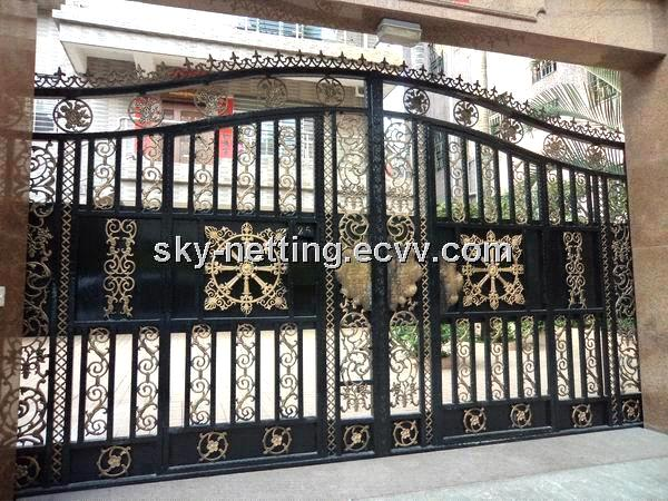 Luxury villa wrought iro house gate purchasing souring