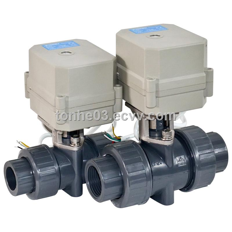 2 way pvc Electric actuated water ball  valve