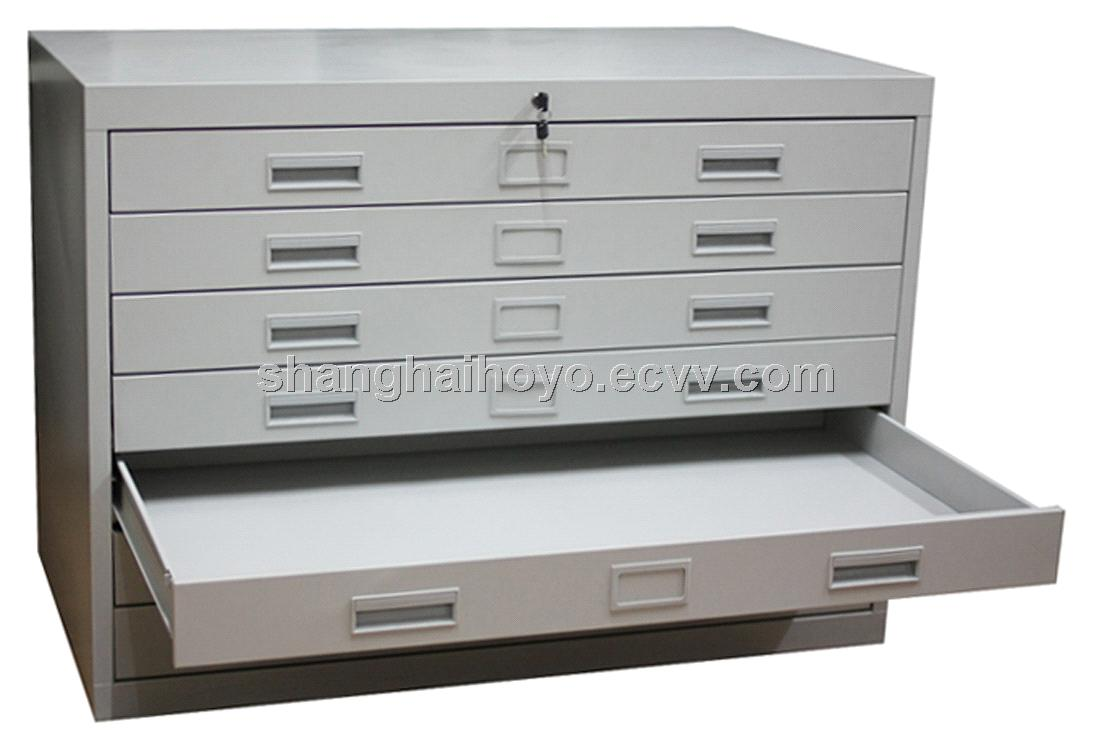 5 DRAWER BLUEPRINT MAP STEEL FLAT FILE METAL CABINET