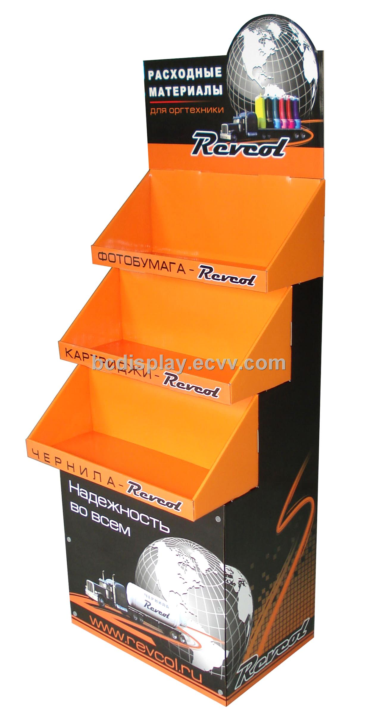 High Quality With Cheap Price Cardboard Floor Display For Ink Box(Bu0026C A002)