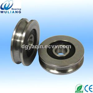 Newest 608rs Small Stainless Steel Pulley U Groove Pulley