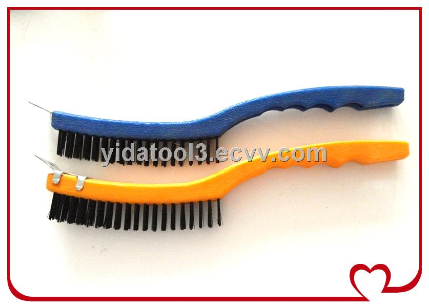 Long Plastic Handle Stainless Steel Wire Brush Purchasing