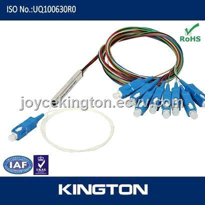 1*8 fiber optic plc splitter mini type