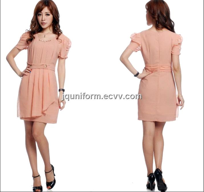 Fashional Elegant Short Sleeve Skirt,Anti-Pilling