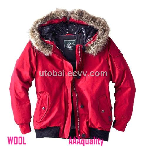 WOOLRICH men and women fur leather collar winter coat fashion brand