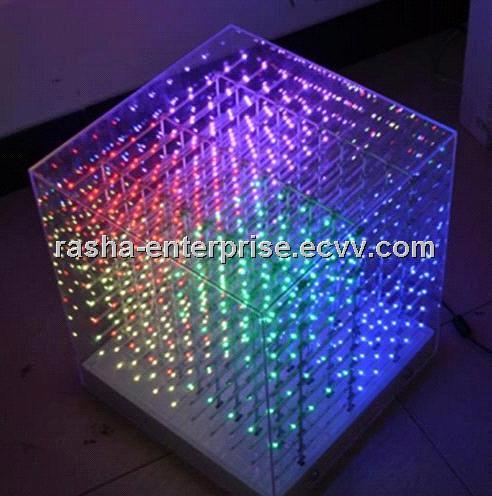 New Smd 0805 3in1 3d Led Cube Light 3d Cube Light For
