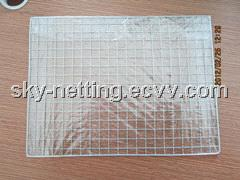 Galvanized Barbecue Mesh 1mm Diameter 1'' Mesh Size 400*600mm Size Plastic Bag Packed