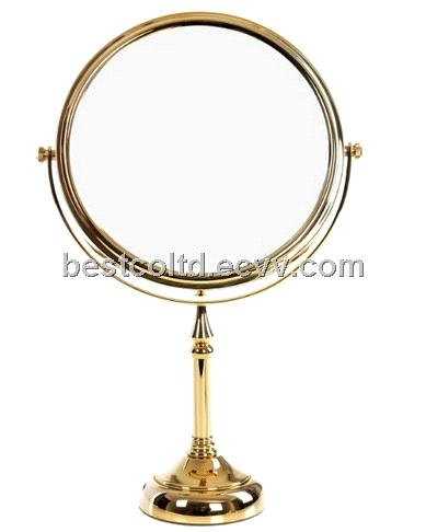 Magnifying Mirror Adjustable Wall Mounted Shaving Mirror Bathroom Shaving Mirror Golden Retro