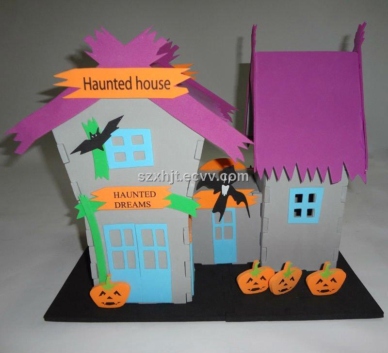 Products Catalog > DIY model kits > 3D foam Puzzle/haunted house DIY ...