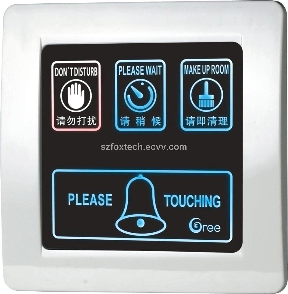 hotel touch doorbell control  outdoor display panel