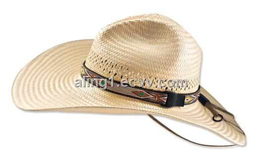 Straw Cowboy Hat Black Straw Cowboy Hats