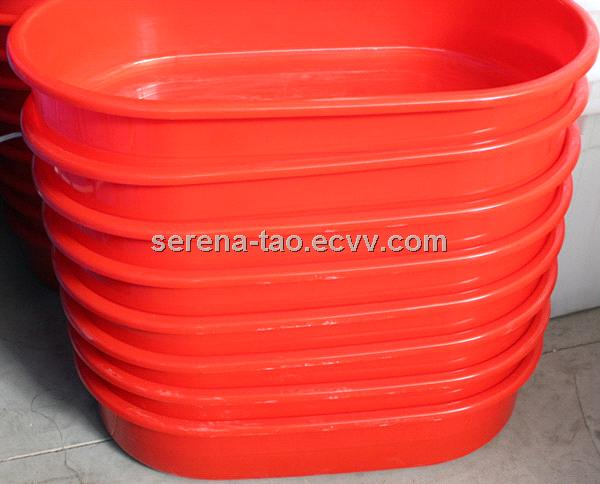 Offer plastic Basin using aquatic product / Plastic long oval  Storage