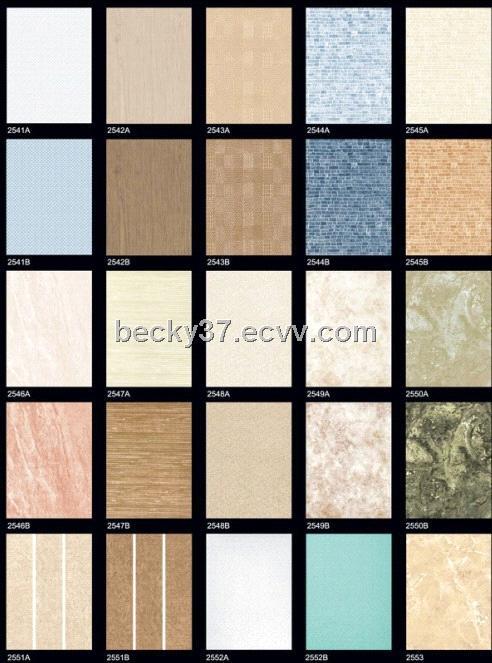 Ceramic glazed wall tiles