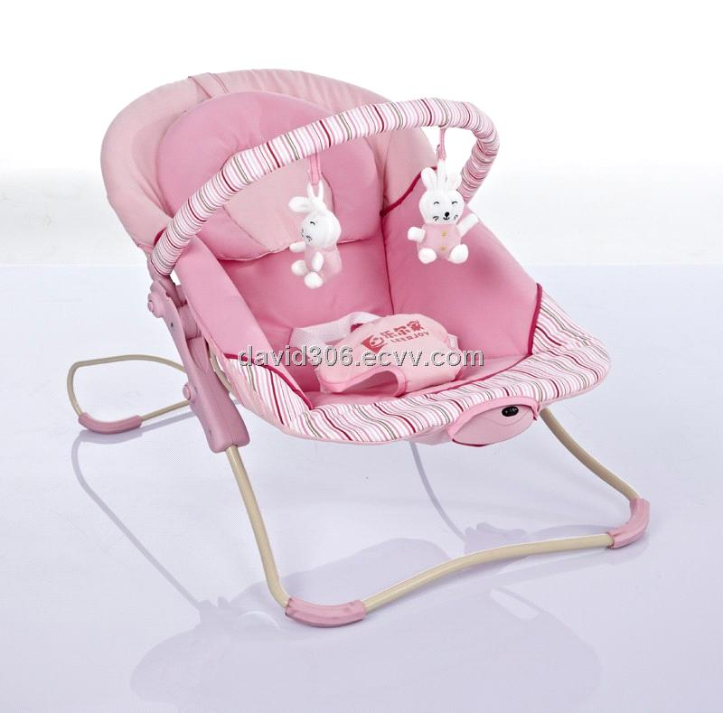 Music Vibration Pink Baby Bouncer Chair