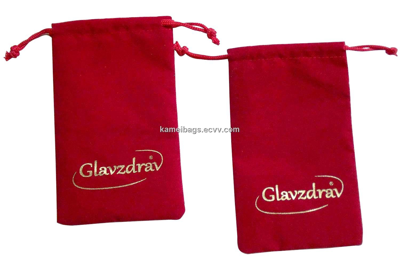 Velvet bag km veb drawstring gift velour