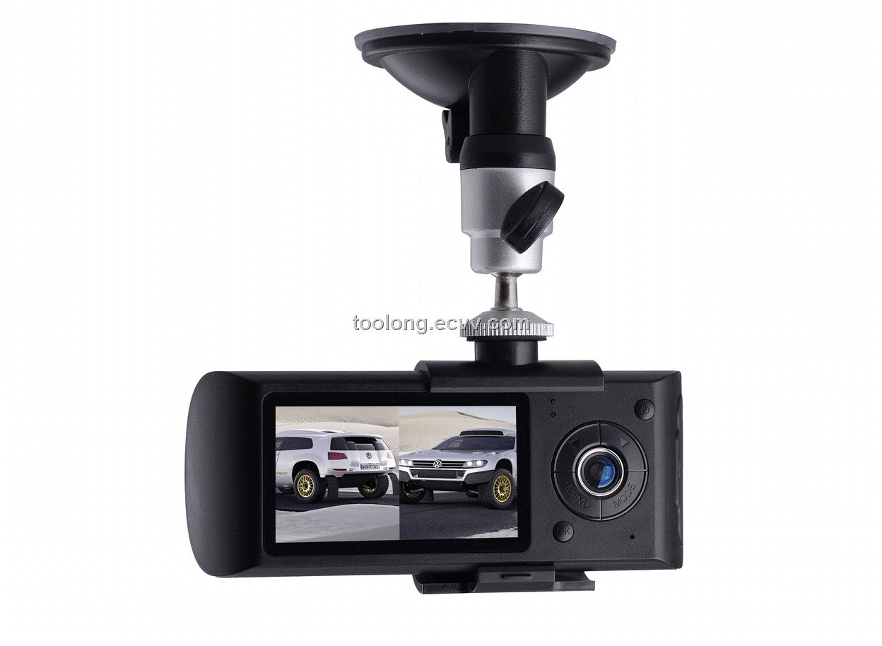 2.0inch Dual Camera Car DVR Recorder with GPS Logger
