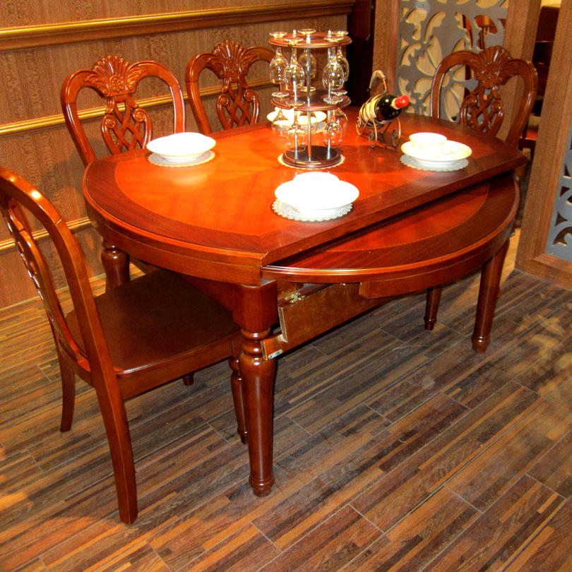 Classic Wooden Dining Round Fold Table Set T253 T253