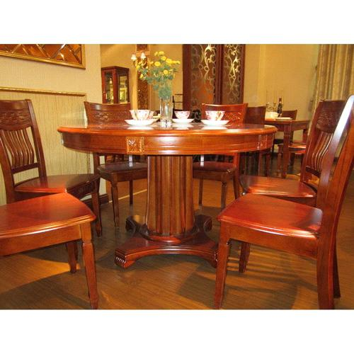 Hot sell european classical solid wood home hotel kitchen for Solid wood round kitchen table